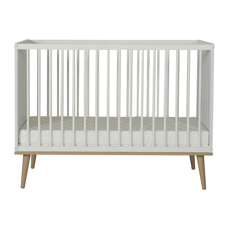 Quax® Flow Baby Bed 120x60 White & Oak