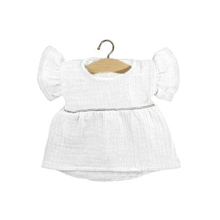 Minikane® Esemble dress in organic cotton Daisy White Silver 34cm