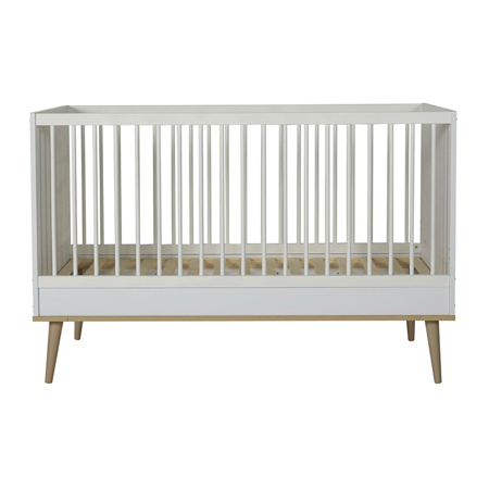Picture of Quax® Flow Baby Bed 140x70 White & Oak