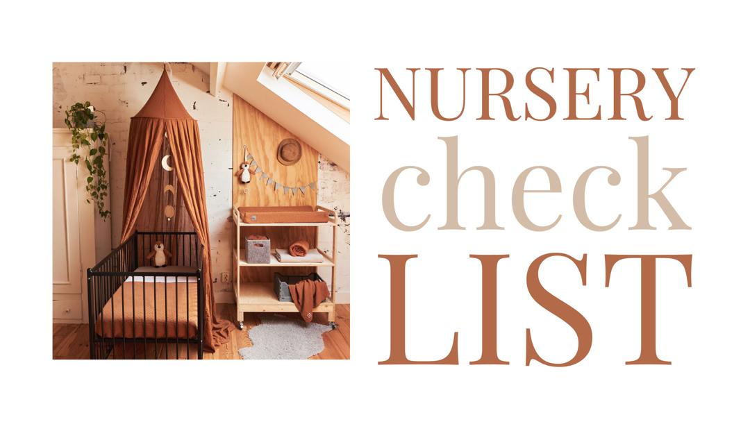 Nursery check list