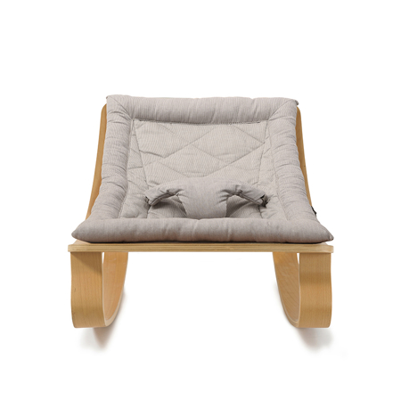Picture of Charlie Crane® Baby Rocker LEVO Beech with Sweet Grey cushion