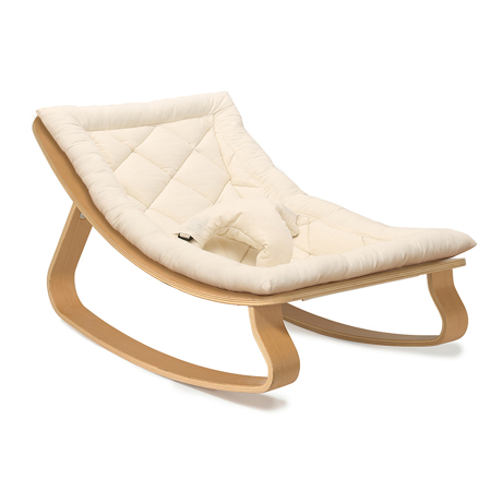 Picture of Charlie Crane® Baby Rocker LEVO Beech with Organic Cotton cushion