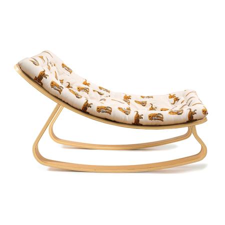 Charlie Crane® Baby Rocker LEVO Beech with Jaguar cushion