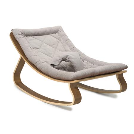 Picture of Charlie Crane® Baby Rocker LEVO Walnut with Sweet Grey cushion