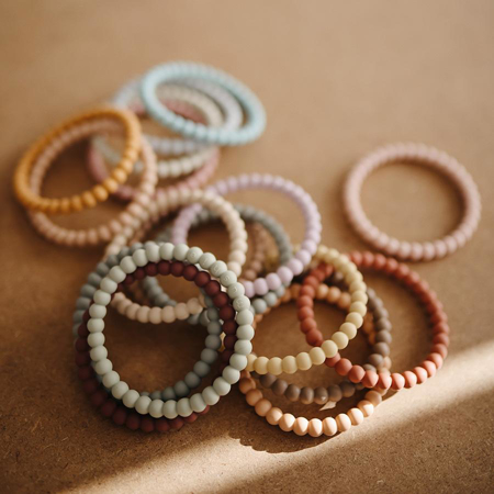 Picture of Mushie® Teething Bracelet Berry/Marigold/Khaki 3-pack