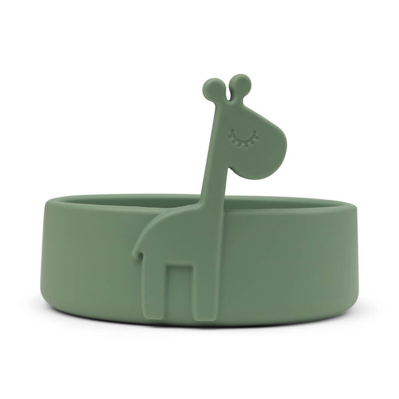 Picture of Done by Deer® Silicone bowl Peekaboo Raffi Green