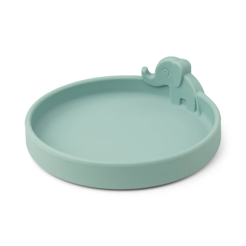 Picture of Done by Deer® Silicone plate Peekaboo Elphee Blue
