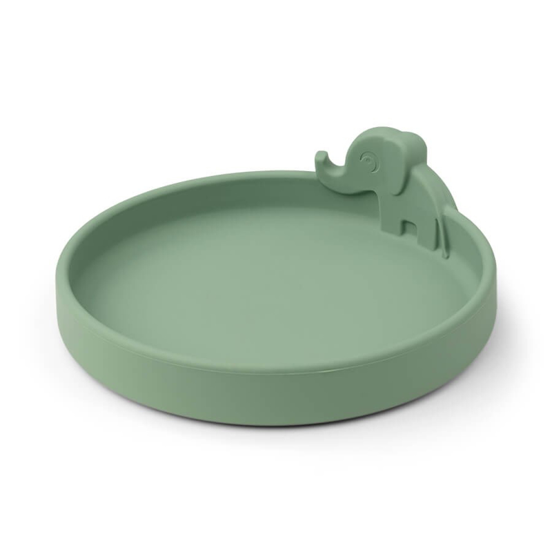 Picture of Done by Deer® Silicone plate Peekaboo Elphee Green