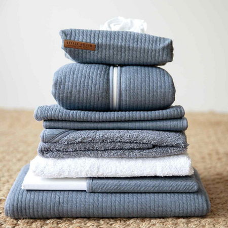 Picture of Little Dutch® Fitted sheet Pure Blue 70x140/150