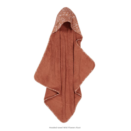 Picture of Little Dutch® Hooded towel Wild Flowers Rust