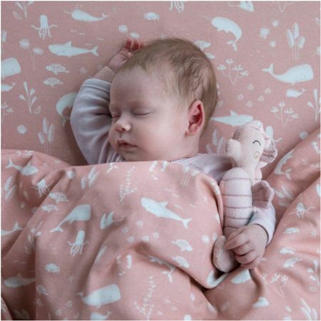 Picture of Little Dutch® Rattle toy Seahorse Ocean Pink