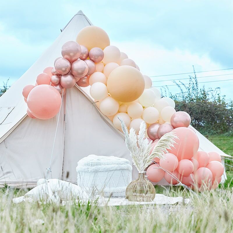 Picture of Ginger Ray® Balloon Arch Kit Luxe Peach, Nude & Rose Gold