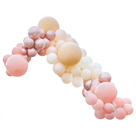 Ginger Ray® Balloon Arch Kit Luxe Peach, Nude & Rose Gold