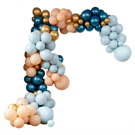 Picture of Ginger Ray® Balloon Arch Kit Luxe Teal & Gold Chrome