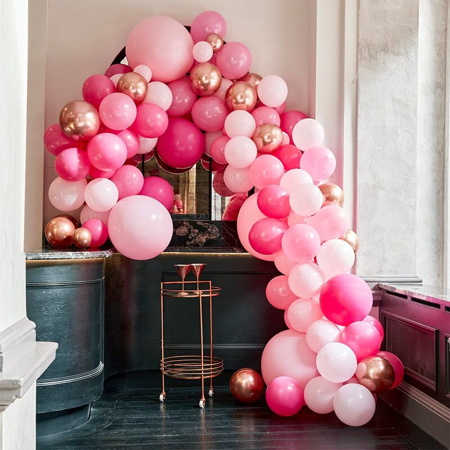 Picture of Ginger Ray® Balloon Arch Kit Luxe  Pink & Rose Gold