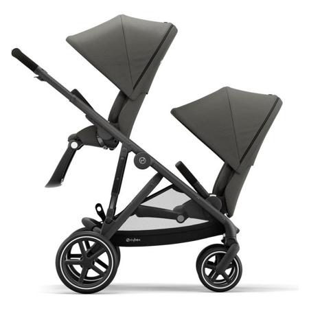 Picture of Cybex® Otroški voziček za dvojčke Gazelle S BLK (2x sed. in 2x košara) Soho Grey