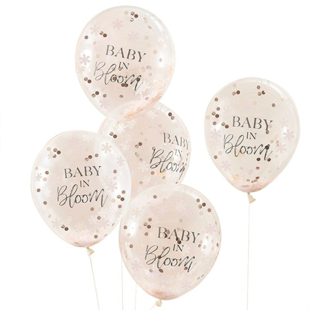 Ginger Ray® Baby Shower Baby in Bloom Confetti Balloons