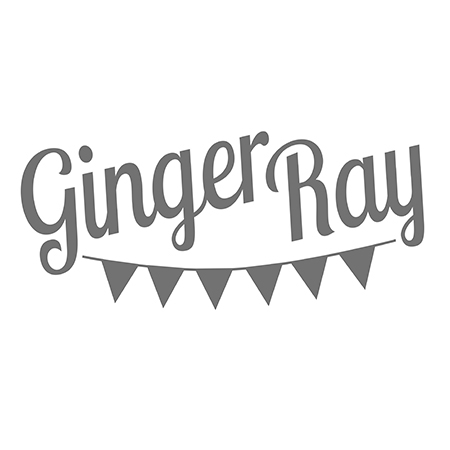 Picture of Ginger Ray® Rose Gold foiled Baby shower paper plates Baby in Bloom