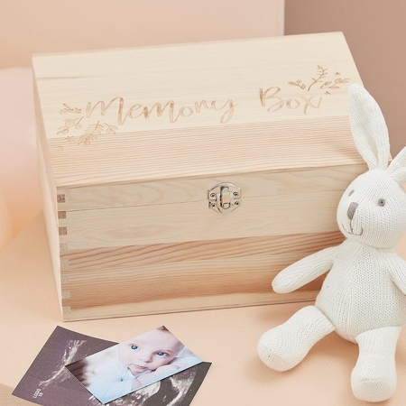 Picture of Ginger Ray® Wooden Baby Memory Keepsake Box