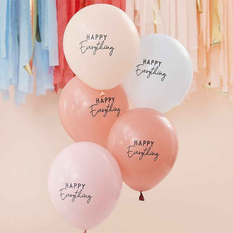 Picture of Ginger Ray® Muted Pastel Balloons Happy Everything