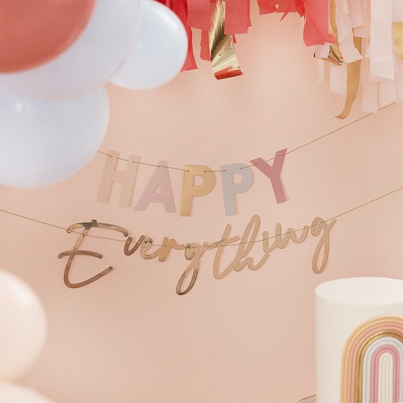Picture of Ginger Ray® Pastel and Gold Happy Everything Party Bunting