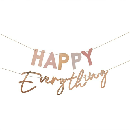 Ginger Ray® Pastel and Gold Happy Everything Party Bunting