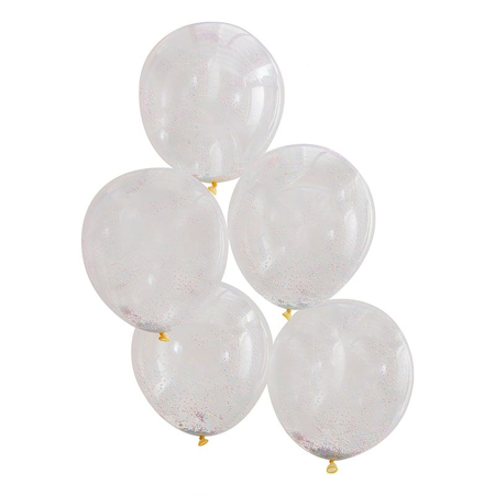 Ginger Ray® Confetti Balloons Multi Colour Pastel