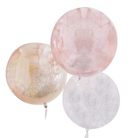 Ginger Ray® Balloons Mix It Up Mixed Metallics Orb Glitter
