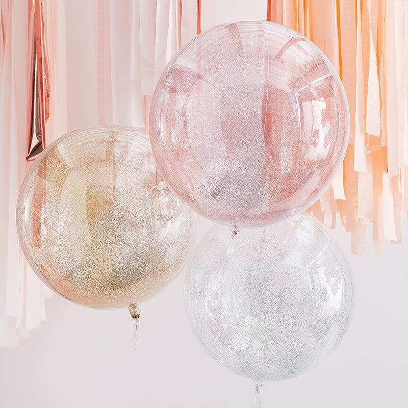 Picture of Ginger Ray® Balloons Mix It Up Mixed Metallics Orb Glitter