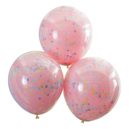 Ginger Ray® Confetti Balloons Pastel Pink