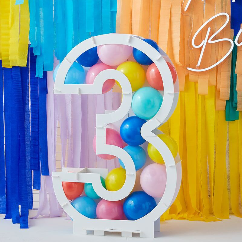 Picture of Ginger Ray® Balloon Mosaic Number Stand 1