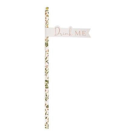 Ginger Ray® Tea Party Flag Paper Straws 20pcs