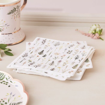 Picture of Ginger Ray® Paper Napkin Floral Print