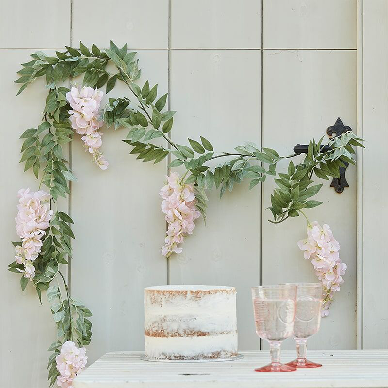 Picture of Ginger Ray® Blush Pink & Green Wisteria Gerland