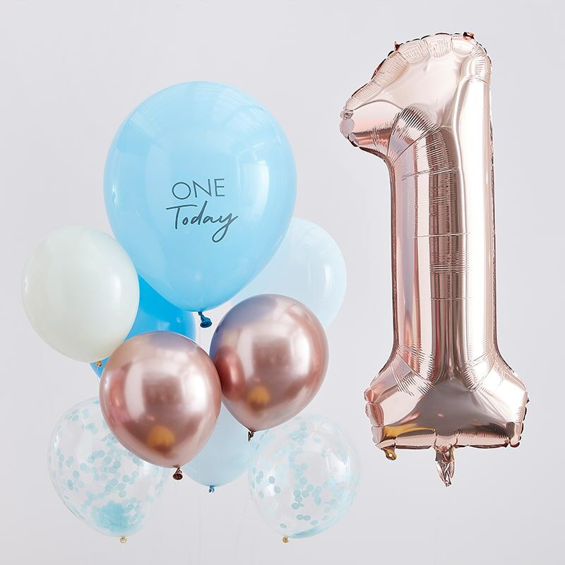 Picture of  Ginger Ray® Balloons  Mix It Up  Blue and Rose Gold 1 Today