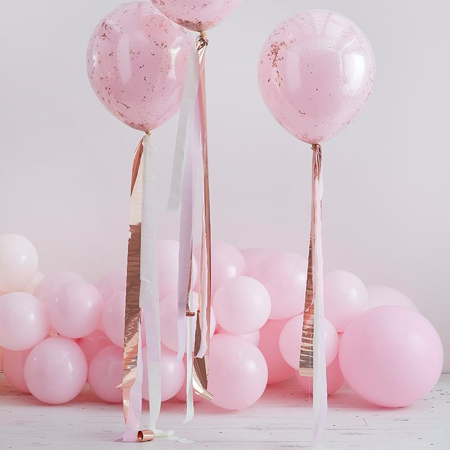 Picture of Ginger Ray® Balloon tails Mix It Up Rose Gold and Pink