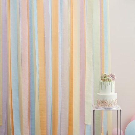 Ginger Ray® Streamer Backdrop Mix It Up Pastel