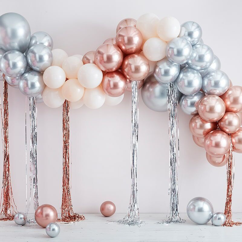 Picture of Ginger Ray®  Ballon arch with Steamers Mix it Up Mixed Metallics