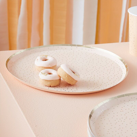 Picture of Ginger Ray® Peach Gold foil Happy Birthday plates