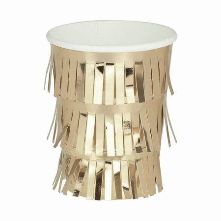 Ginger Ray® Fringe  Gold Paper Cups