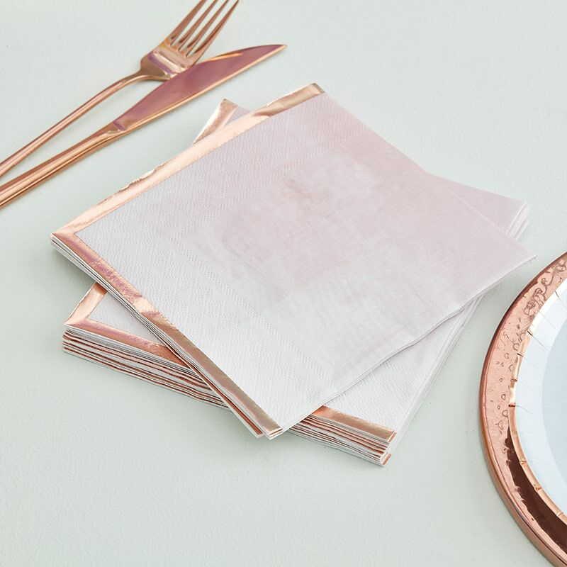 Picture of Ginger Ray®  Reactive Glaze Pink Napkins 16 pcs.