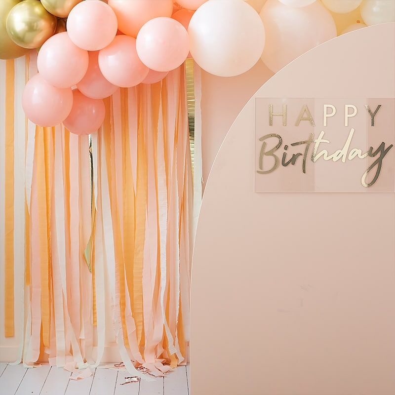 Picture of Ginger Ray® Streamer Backdrop Mix It Up Pastel