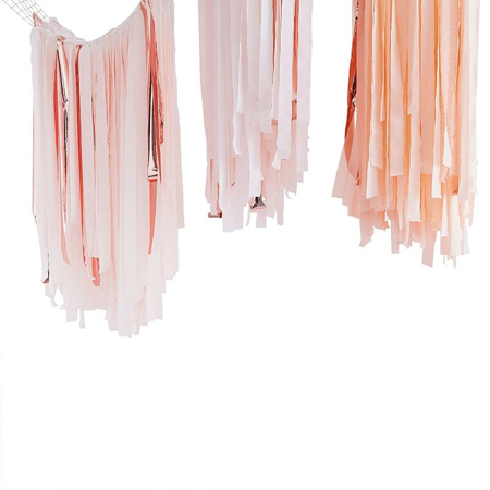 Picture of Ginger Ray® Streamer Backdrop Mix It Up Pink Blush Gold
