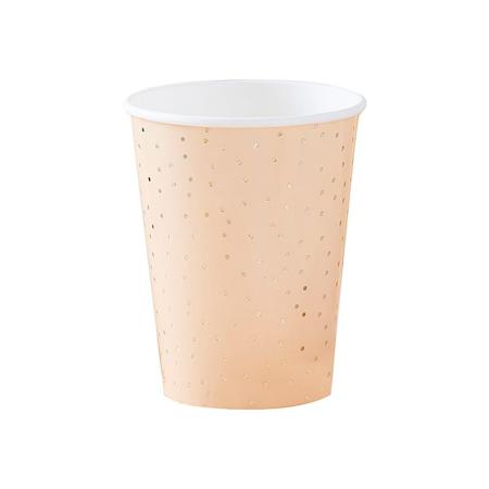 Ginger Ray® Cups Gold Polka Dot 8 pcs.