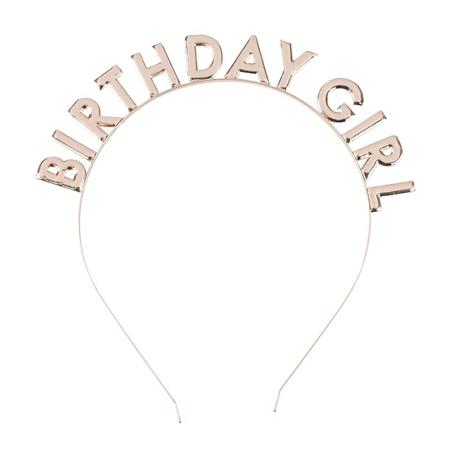 Ginger Ray® Headband Birthday Girl Rose Gold
