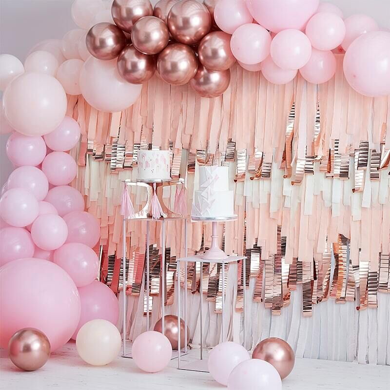 Picture of Ginger Ray®  Ballon arch  Mix it Up Pink and Gold Rose