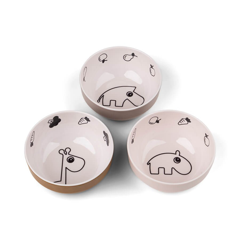 Picture of Done by Deer® Yummy mini bowl 3-pack Deer friends Powder