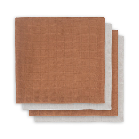 Picture of Jollein® Muslin multi cloth small Caramel 4 pcs.70x70
