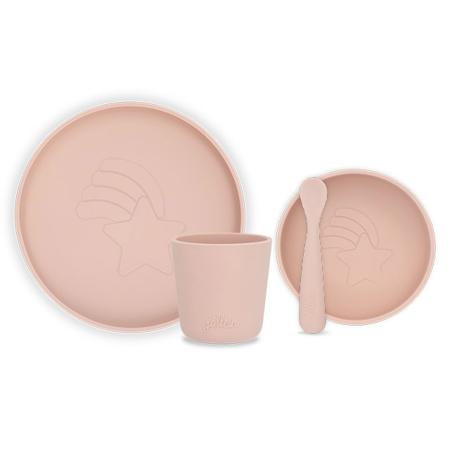 Jollein® Silicone dinner set Pale Pink