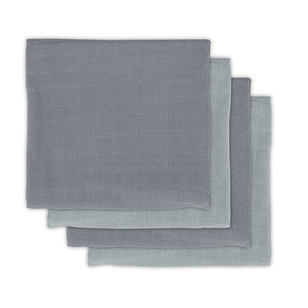 Picture of Jollein® Muslin Multi Cloth Bamboo Storm Grey 4 pcs.70x70